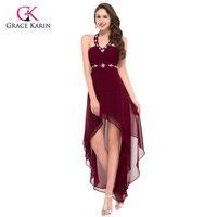 Fashion V Neck Blue Black High Low Robe De Cocktail Dress Plus Size Cheap Short Front