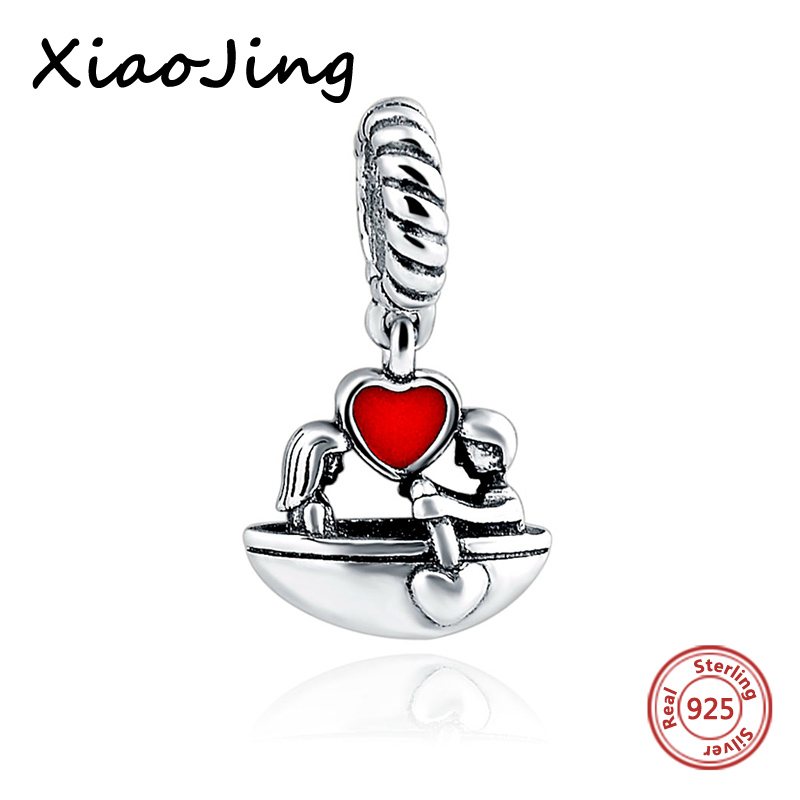 Love and Red heart Beads Fit Pandora Charms silver 925 original Bracelets Authentic pendant diy beads Jewelry making women Gifts бра st luce sl924 201 02