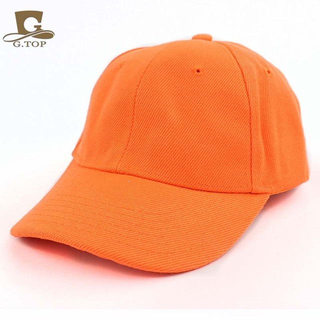 143f85477ee New Kids Plain blank ball Cap Adjustable School Girls Boys Junior Childrens  sun visor Hat Summer
