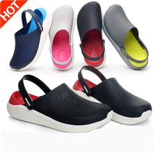 Lizeruee Summer Soft Slippers For Women EVA Clogs Mules Unisex Beach Slippers Casual Shoes Sports Mules Garden Clogs Wholesale 2018 women s beach clogs air mesh sandals casual slippers breathable classic clogs and mules flat jelly garden shoes slide