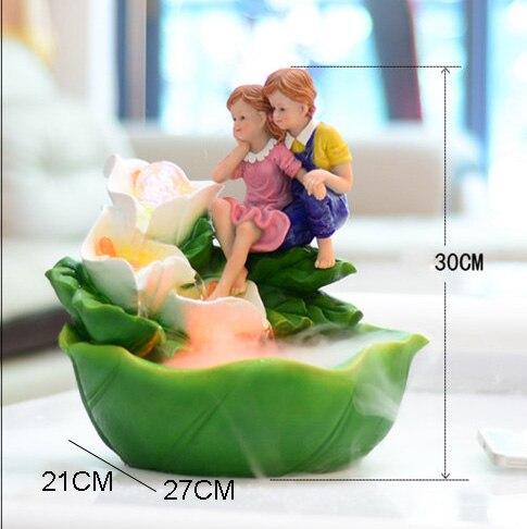 110 В-240 В смолы фэн-шуй фонтан аквариум spa распылитель увлажнитель воздуха творческий романтическая настольная украшение свадебный подарок