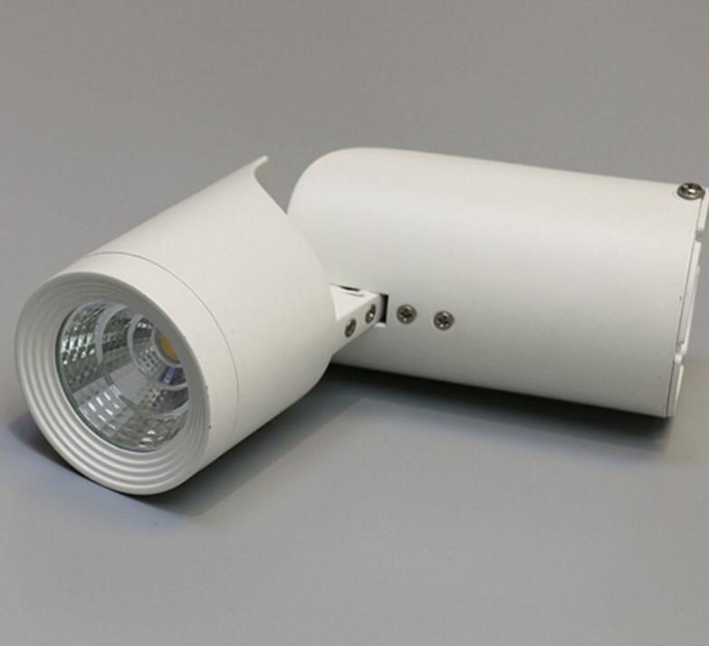Livraison gratuite Dimmable 15 W coque blanche/coque noire blanc chaud Surface montée COB LED Spot lumière LED vers le bas lumière AC110V/AC220V