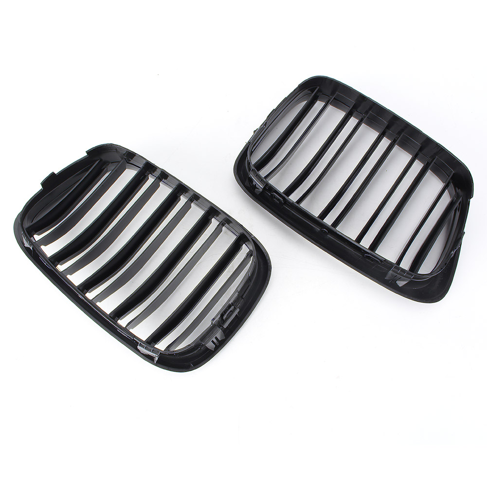 Grilles de calandre centrale automatique pour BMW série 5 E39 1995-2004 accessoires de pièces de voiture Automobile noir brillant ABS plastique - 2