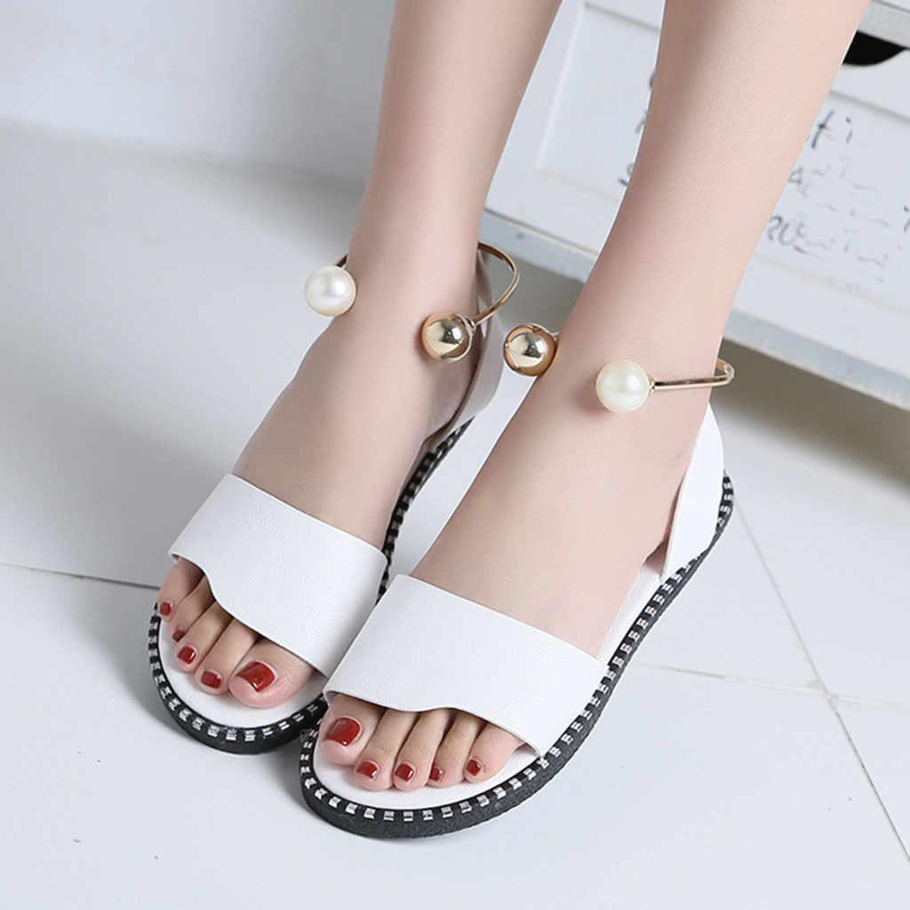 f1744ed97e91 ... MUQGEW 2019 Zapatos Mujer Fashion Rome Slip-On Women Sandals Flip Flops  Solid Round Toe ...