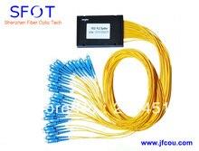 FTTH 1*32 PLC De Fibra Óptica Divisor, ABS embalaje, con conector SC/UPC, puede ser utilizado para GPON EPON OLT