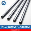 2pcs Lot Cnc Linear Shaft Chrome OD 16mm L 500mm WCS Round Steel Rod Bar Cylinder