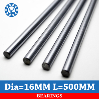 2pcs Linear Shaft 16mm Length 500mm Chrome Plated WCS Round Steel Rod Bar Cylinder Linear Rail