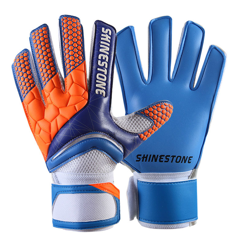 Men Kids Size Latex Professional Soccer Goalkeeper Gloves Strong Finger Protection Football Match Gloves 9
