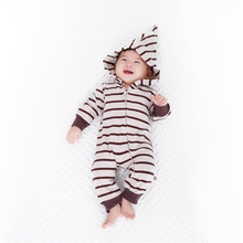 Kawaii Baby Boys Girls Clothes Striped Baby Rompers Costume Winter Cotton Clothes For Boys Girls Warm Jumpsuit