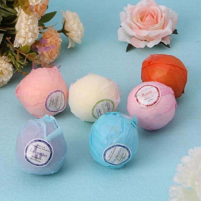 Bombas de baño orgánicas burbujas sales de baño aceite esencial hecho a mano SPA alivio de estrés