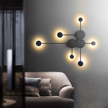 Black/Gold/White LED Wall Lamp For Living Room Bedroom Bedside Nordic Decoration Designer Corridor Hotel Wall Lights