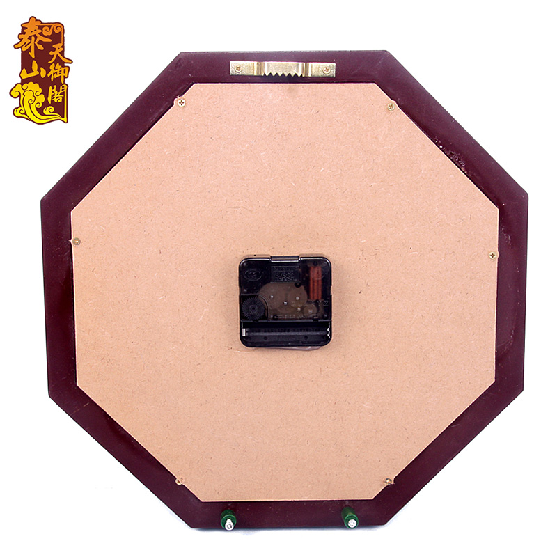 Pavilion Day Electronic Clock Mahogany Bagua Compass Living Room Decoration Feng Shui Wall Dies Wedding In Figurines Miniatures From Home Garden