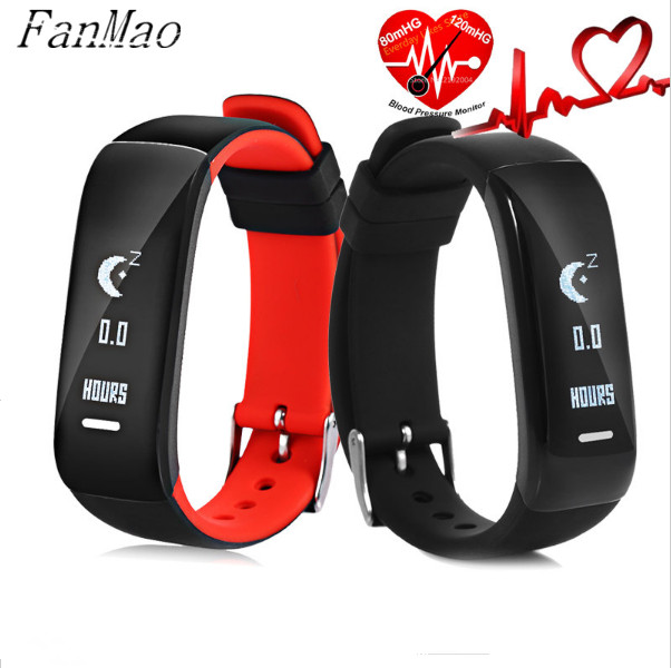 Smart Health Fitness Bracelet Blood Pressure Heart Rate Monitor Sport Pedometer Waterproof Bluetooth Wristband for Android