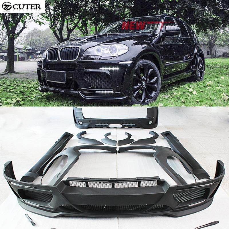FRP X5 E70 HM Style Unpainted Car Body Kit Front Bumper