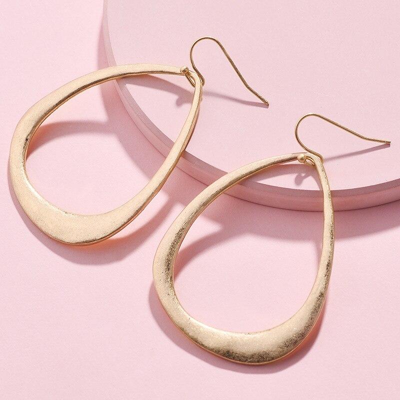 Frame Teardrop Earrings For Women Fashion Jewelry Silver Gold Alloy Metal Water Drop Earrings Statement Earrings