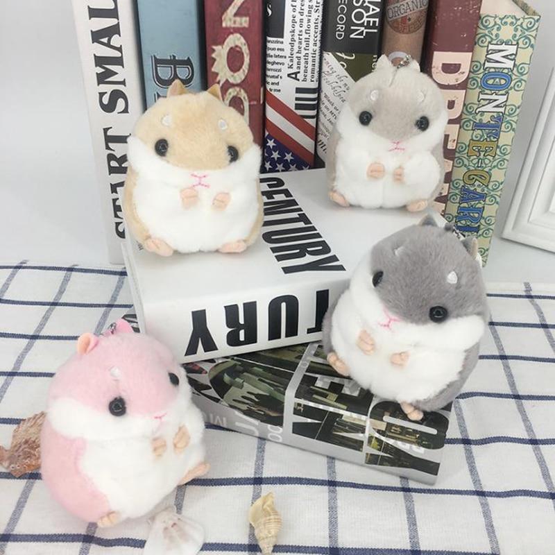 Wholesale Hot Sale Cute Hamster Key Pendant Plush Doll Bag Hanging Ornaments Dolls Send Classmates Girls Gift Dolls Children Toy
