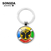 SONGDA Cool Music TomorrowLand Keychain Rock DJ electronic Music Festival Round Logo Key Chain Women Men Car Key Ring Llaveros(China)