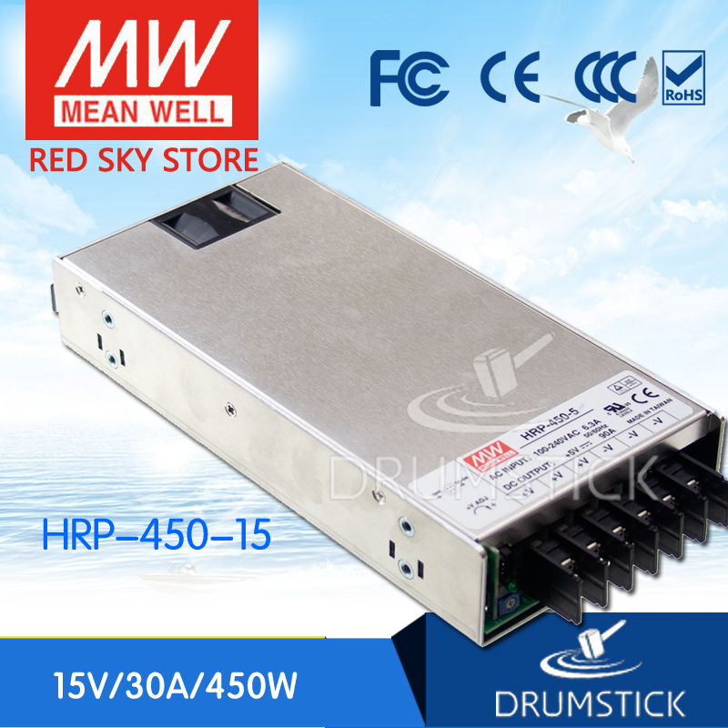 все цены на best-selling MEAN WELL HRP-450-15 15V 30A meanwell HRP-450 15V 450W Single Output with PFC Function  Power Supply онлайн