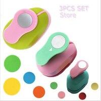 3PCS 5cm 3 8cm 2 5cm Round Shape Craft Punch Set Children Manual DIY Hole Punches