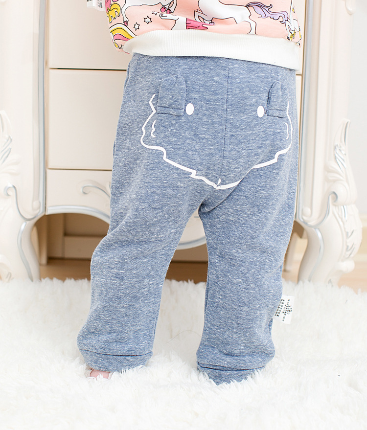 2017 spring new arrival cute Infant Baby Boys Girls back cartoon Bottom Harem Pants Leggings Pants Trousers for 0-24M drop ship (15)