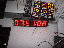 5inch 6 led digital electronic blue red large 7 segment led display цена