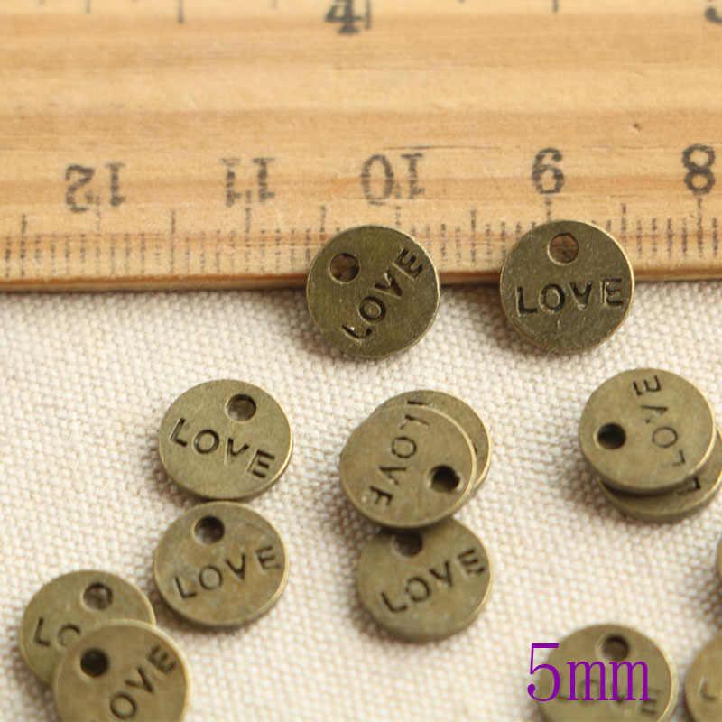 50 pcs טיבטי ברונזה מצופה צלחות יד קסמי תליוני עבור תכשיטי ביצוע DIY בעבודת יד קרפט 8mm