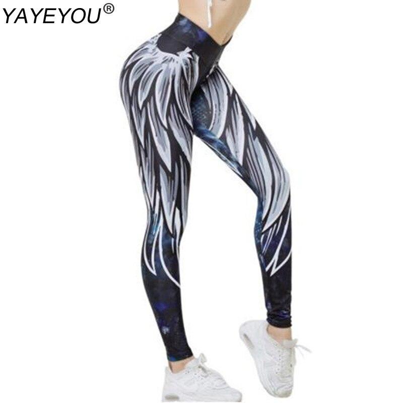 YAYEYOU New Printing Leggings Women Europe And The United States Legging Workout Push Up Female Legging