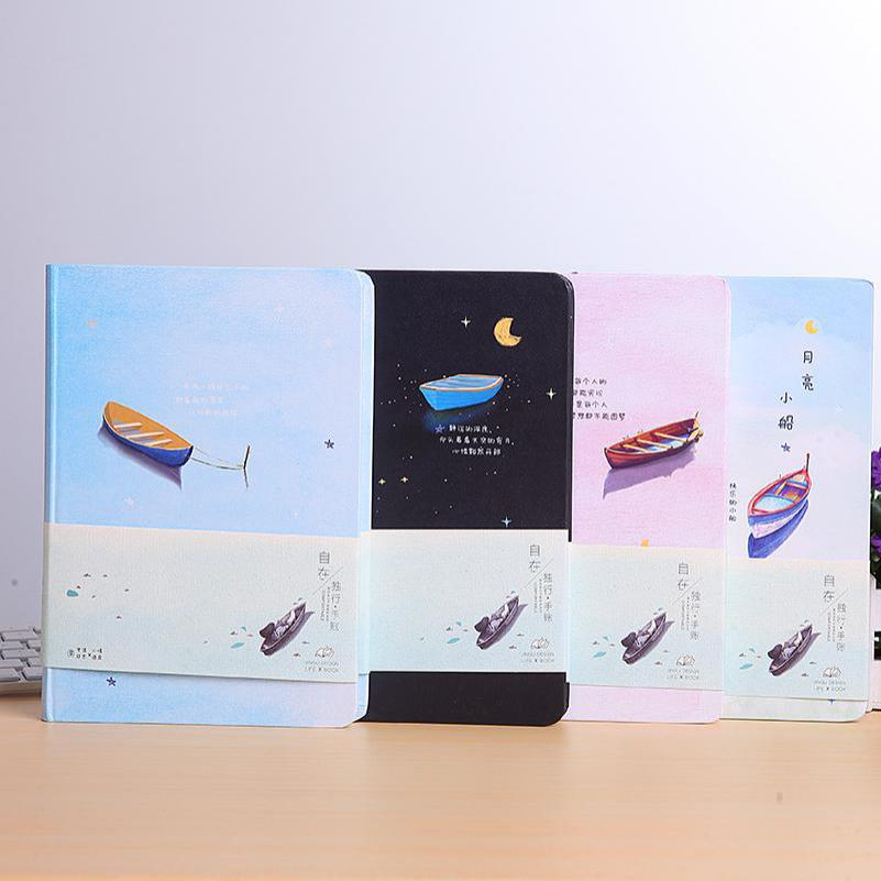 Fromthenon Feel Free Hardcover Notebooks And Journals Color Paper Diary Planner Trend Kawaii Stationery Office & School Supplies fromthenon korean metal cover notebooks and journals creative kawaii stationery color paper blank planner office school supplies
