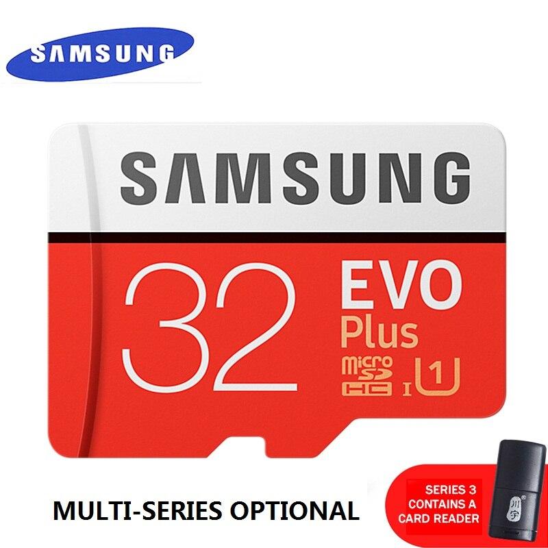 100% Originale PER SAMSUNG EVO + Scheda di Memoria 128 GB/64 GB/SDXC 32 GB/16 GB/SDHC Micro SD/TF 80 MB/S Class10 Schede di Memoria Flash Spedizione Gratuita