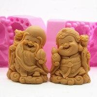 Cũ God of thọ sao Po kẹo mềm sô cô la bánh silicone khuôn DIY soap làm khuôn