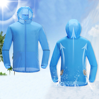 USB Air Conditioning Clothes Fan Cooling Jacket Sun Protection Clothing Outdoor High Temperature Working Fishing Hunting Cooling