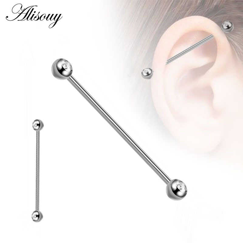 1pc 14G Multi-color Industrial Bar Scaffold Ear Barbell Ring PIERCING JEWELRY