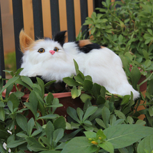 fashion charming artifical realistic fluffy cat toys