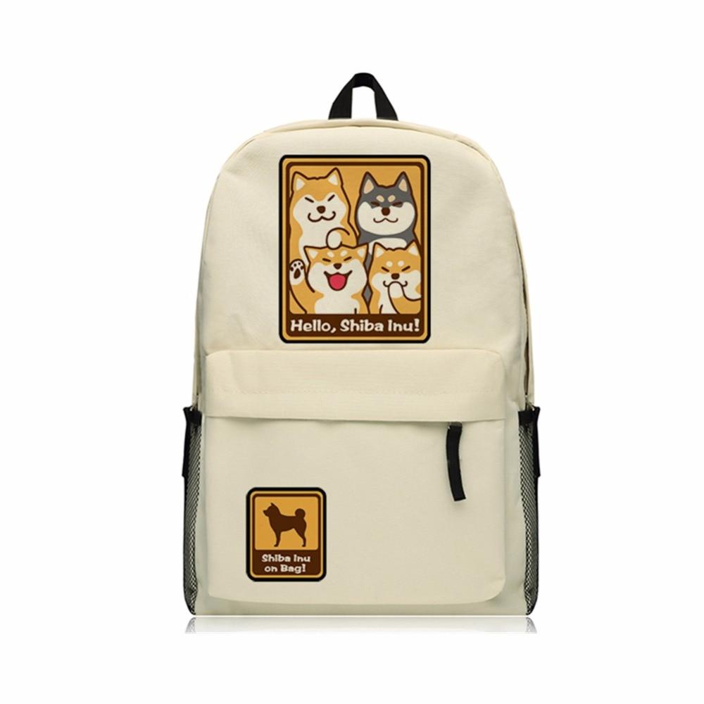 Hello Shiba Inu Doge Backpack Oxford Shoulder Bags Teenagers Doge SHIBA INU Backpack School Bag Boys Mochila cutie dog shiba inu big smile face canvas backpack canvas school bag xmas gift 45x32x12cm