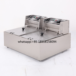 free shipping Commercial Use Stainless Steel electric Deep Fryer for Churros French Fries Chicken Twister Spiral Tornado Potato
