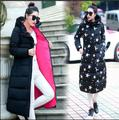 2016 New Women Winter Coat Faux Fur Collar Hooded Women's Fashion Long Cotton Down Coat Casual Warm Parka Plus Size M-4XL