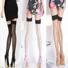 8cd1db95c2183 1 pair Sexy Women Lady Girls Heal Seamed Seam Over Knee Thigh High  Stockings Pantyhose Medias