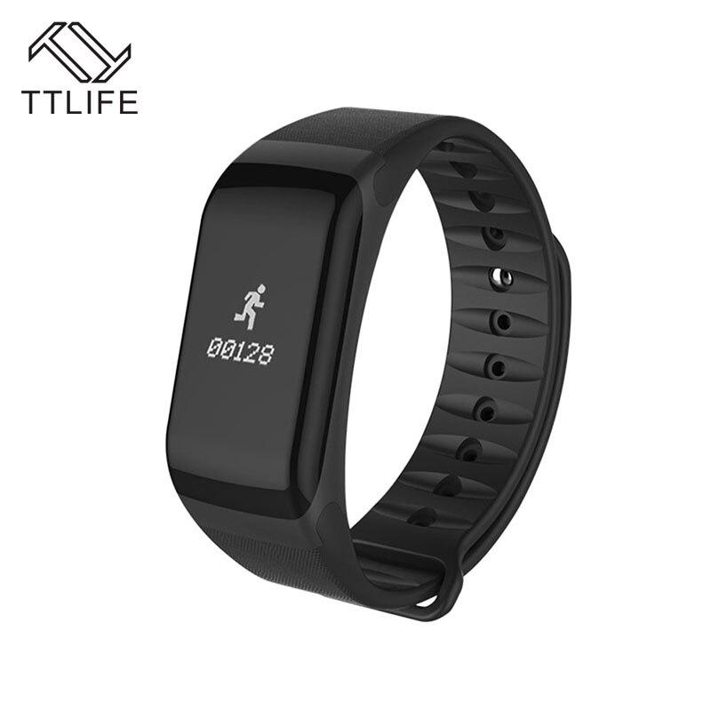 2017 TTLIFE F1 IP66 Waterproof Sport Smartband Bluetooth Smart Bracelet Heart Rate Monitor Call Message Reminder