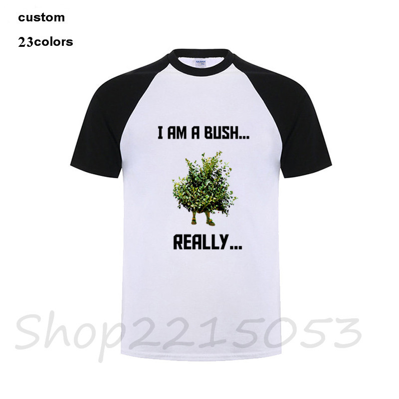 2018 Fortnite Bush Men game T-Shirt children boys harajuku summer tops black white cotton tshirt clothing plus size dropshipping