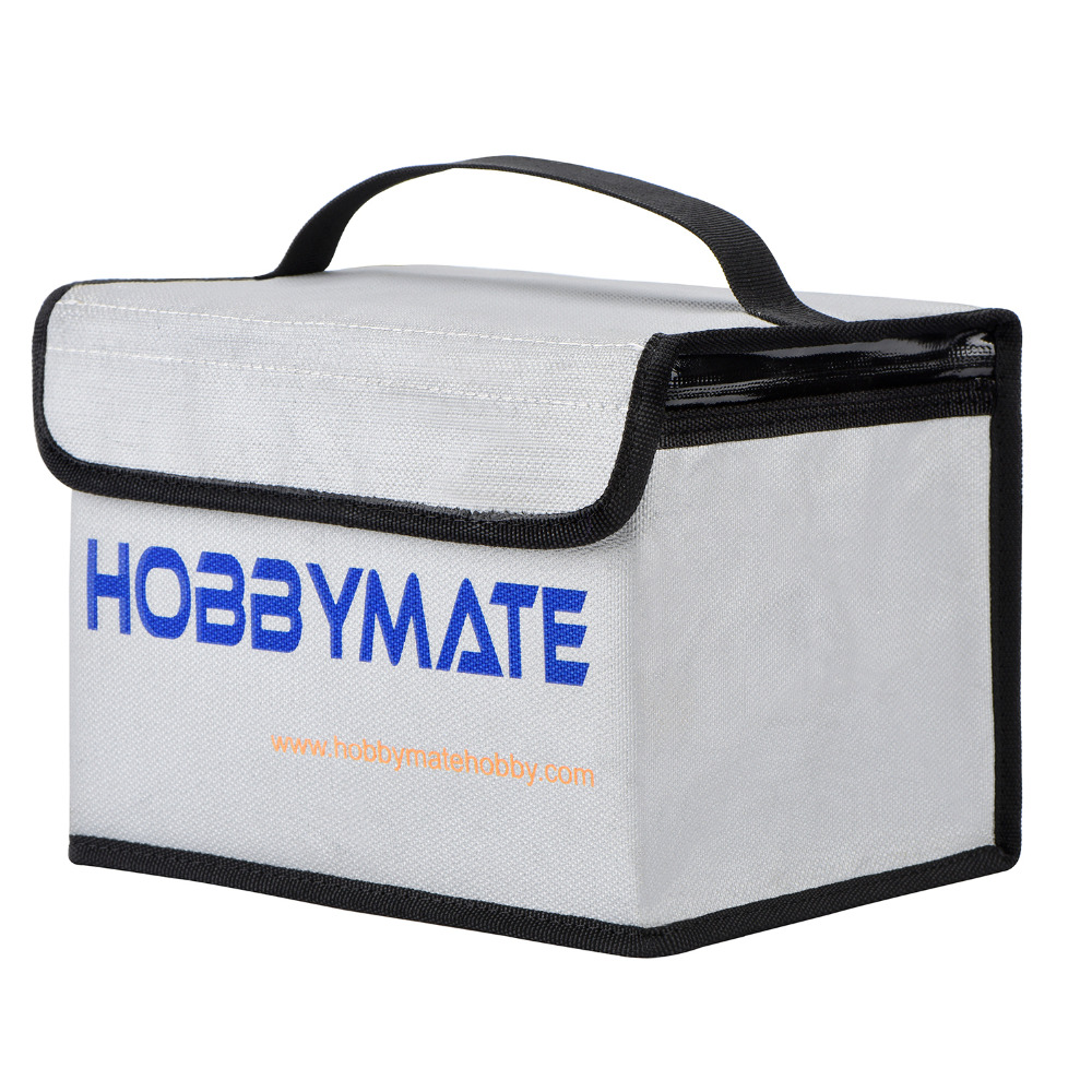 Lipo Battery Safe Bag LiPo sacks Guard Fireproof - for Lipo Battery Charge & Storage HOBBYMATE spark storage bag portable carrying case storage box for spark drone accessories can put remote control battery and other parts
