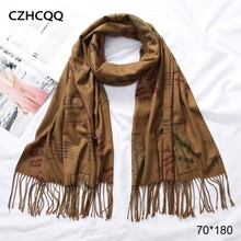 Winter Cashmere Scarf Women Foulard Wool Kerchief Bandana Trumpet Sjaals Voor Dames Plaid Poncho For Ladies