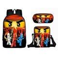 3 шт./компл.  школьные сумки для детей с Супер Марио  Лего  ниндзя  Бэтменом  школьный рюкзак для девочек и мальчиков  Детские рюкзаки  Mochila