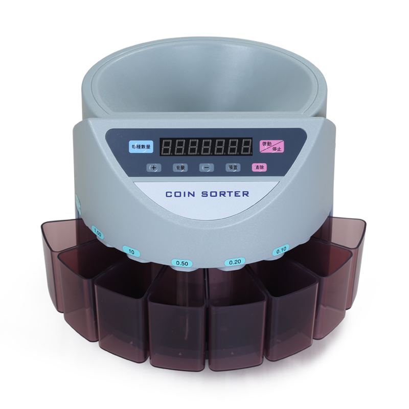 Electronic coin sorter coin counter counting machine custom made for countries display the total value and quantity