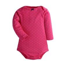 4Pcs/Lot Cotton Baby Bodysuits Long Sleeve Baby Jumpsuits