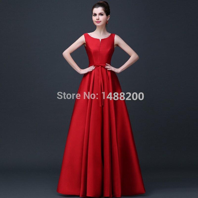 Customized 2015 elegante Rojo/Champán/de color Vino de noche vestido vestido de fiesta
