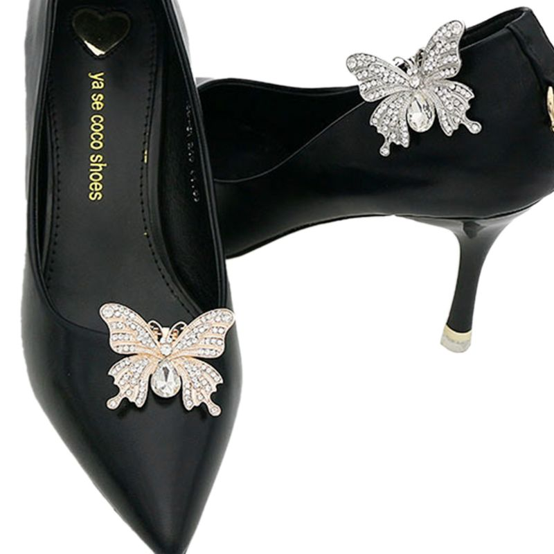 Shoe Clip Glitter Rhinestone Luxury Fashion DIY Shoes ...