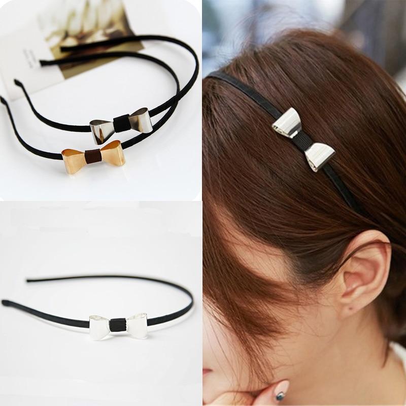 Hot Women Girls Korean Style Popular Simple Bowknot Headband   Headwear   Bezel Hair Accessories Hair Bands