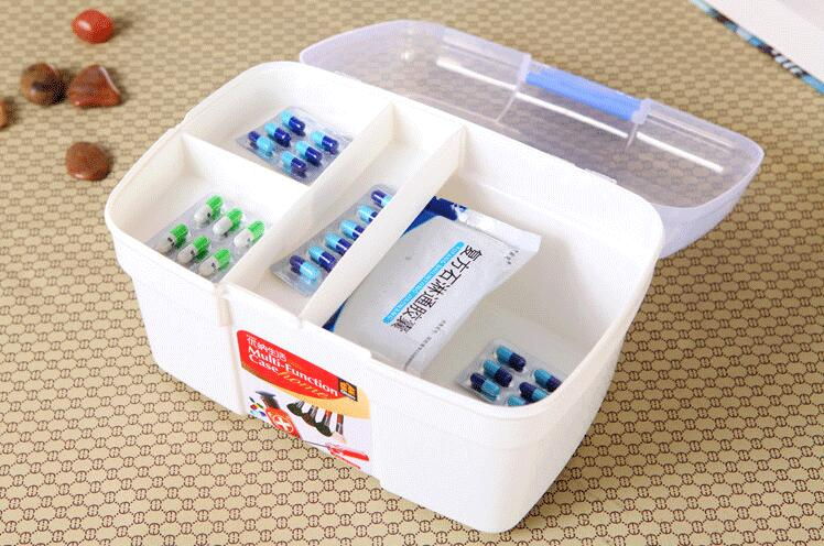 Household medium medicine box multi-layer drug storage box household plastic children small medicine box first aid box medical b new gbj free shipping home aluminum medical cabinet multi layer medical treatment first aid kit medicine storage portable