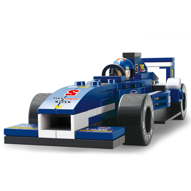 Sluban Model Building B0351 196pcs Model Building Kits Classic Toys Hobbies  1:32 F1 Racing Car