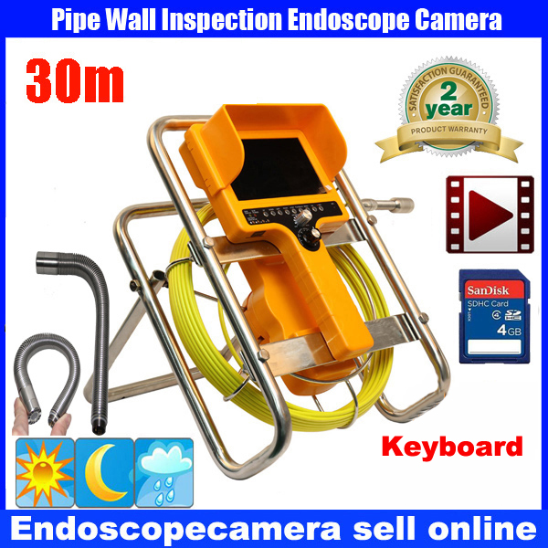 30M Pipe Drain Sewer Inspection Camera System 90 degree Recording Camera DVR Camera With keyboard30M Pipe Drain Sewer Inspection Camera System 90 degree Recording Camera DVR Camera With keyboard